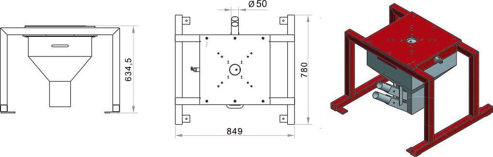 Frame for FGB FLECS with suction box