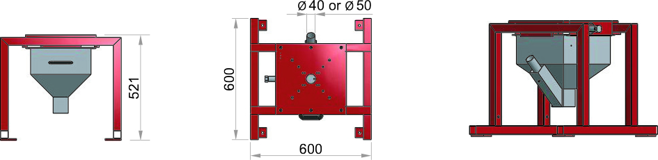 Frame for FGB MECS with suction box
